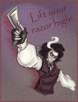 Lift your razor high, Sweeney by Lilostitchfan