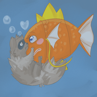 Fishy kisses by Stais