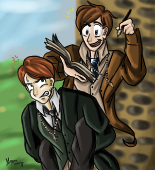 Tolkien and Lewis by Onchou-Ame