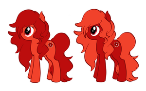 New MLP OC (Red Valencia and Blood Orange) by DancesofShadows