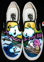 Music Is My Life Vans by SwissDutchess