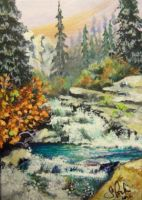 ACEO Waterfall by annieoakley64