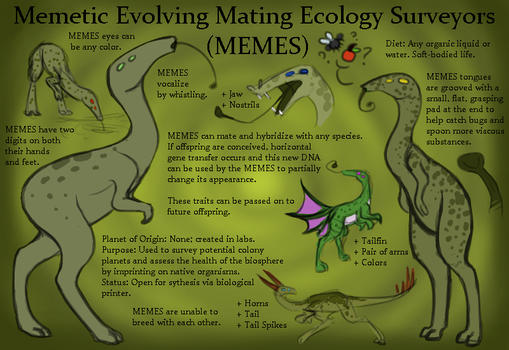 MEMES Species Sheet [OPEN SPECIES] by EnterTheDwelling