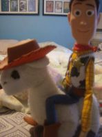 The Llama and the Sheriff by Chari-Artist