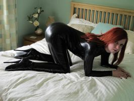 Karina in New Latex Catsuit by BritBastard