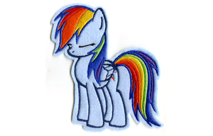 Large Rainbow Dash Embroidered Patch by GothyBeans