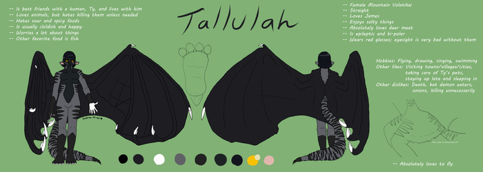 Tallulah's Complex Reference Sheet by BloodWolf93