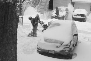 2015 January Blizzard, Snow Blowing and Shovel 2 by Miss-Tbones
