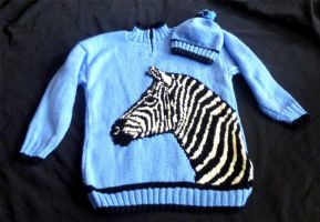 Zebra Sweater by Vulkanette