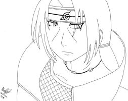 Itachi - Lineart by Midnight-Calling
