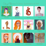 Art Summary 2014 by GingerAdventures