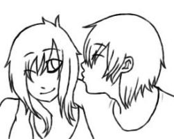 How About a Kiss? line art by SuPeR--nErD