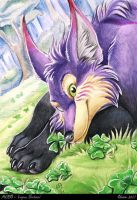 ACEO - Lupus Shetani by theOlven