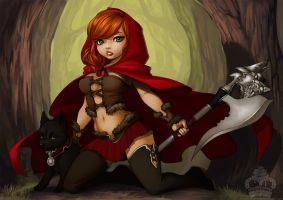 Not So Little Red Riding Hood by AjamariesArt
