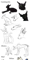 Sketch dump by camelpardia