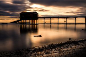 Lifeboat House Silhouette by PeteLatham