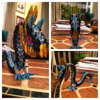 3D Origami Dragon by Camelliawolf