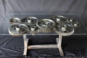 Industrial coffee table by Branbot