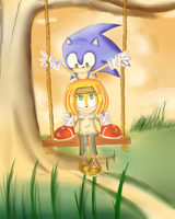 sonic and tikal swing by Keaton-Corrine
