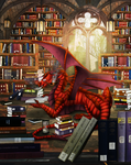Commission - Alyxion the Bookwyrm by Cryophase