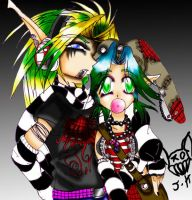 Jak and Keira Emo by ShadeHellsing
