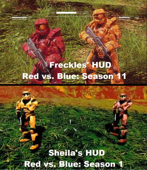 Freckles' and Sheila's HUD Comparison by XPvtCabooseX