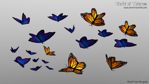 M for Monarch and Morpho (Butterflies) - Blender by Matou31