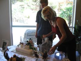 Mom Pouring the Wine II by Neriah-stock