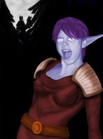 WOW Night Elf Digital Painting by flamingangel