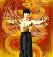 the bruce lee s  fist by myroboto