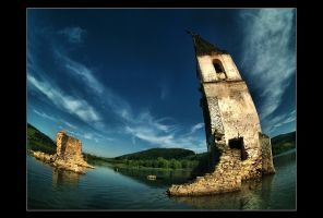 village under the water by Trifoto