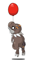 Tyrunt on a balloon by kiruki-chan