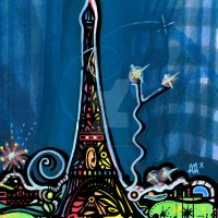 tour eiffel PARIS MULTICOLOR by AUDREYASTORG