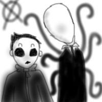 Slenderman and Masky by ConiKirbyKirby