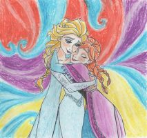 Elsa and Anna - Frozen by SophiaLiNkInFaN93