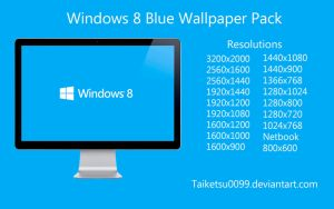 Windows 8 Blue Wallpaper Pack by Taiketsu0099 by Taiketsu0099