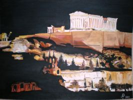 Acropolis of Athens by poranna