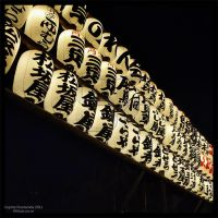 Senso-ji white lanterns by Princess-Suki-W
