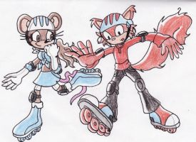 Rollerblading... by ChaosAngel5
