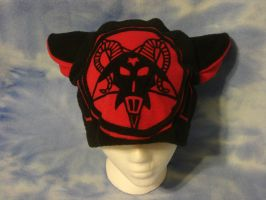 Black and Red Goat Star Hat by HatcoreHats