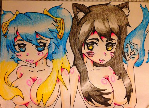 Sona and Ahri by Eso-chan