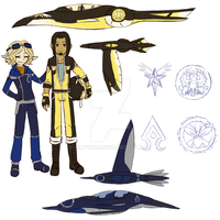 Duo and Pilot designs by silver-dragonetsu