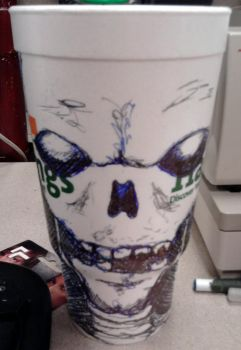 Work Doodle - Skull Cup by TwoPi