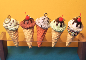 Scented Ice Cream Charms by rottingteeth