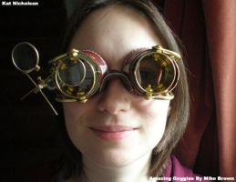 Steampunk Goggles by KatCardy