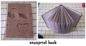 newsprint book by yatsu