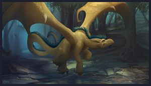 Challenge to draw a dragon. by Noben
