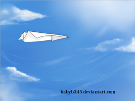 Sky And Paper Plane by babyb345