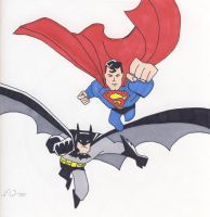 Superman and Batman by CaperGirl