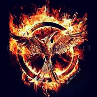 MockingJay Drawing (INVERTED) by MichelleCArt
